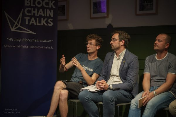 Sharktank at Blockchain Talks communication material